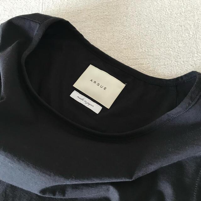 DEUXIEME CLASSE(ドゥーズィエムクラス)の♡ ARGUE  アーギュー アギュー ♡ バックフレアタンクトップ ブラック レディースのトップス(タンクトップ)の商品写真