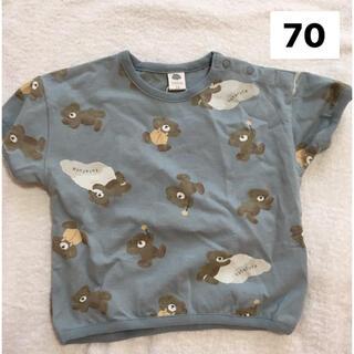 futafuta - パジャマ 70 しまむら フタフタ くま バースデイ 青 Tシャツ ベビー