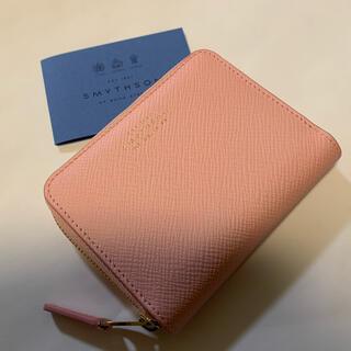 Smythson - ★新品未使用★スマイソン ジップコイン 財布 ピンク パナマ