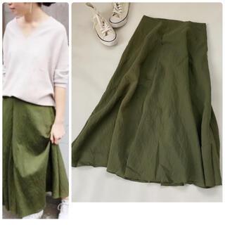 IENA - 美品✨イエナ ロングスカート カーキ 緑 麻 春服夏服 フレア リネン