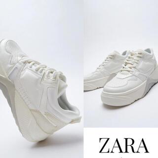 ZARA - 【新品/未着用】ZARA コントラストプラットフォームスニーカー ダッドシューズ