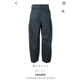 LEMAIRE - lemaire ハイウエストテーパードデニム
