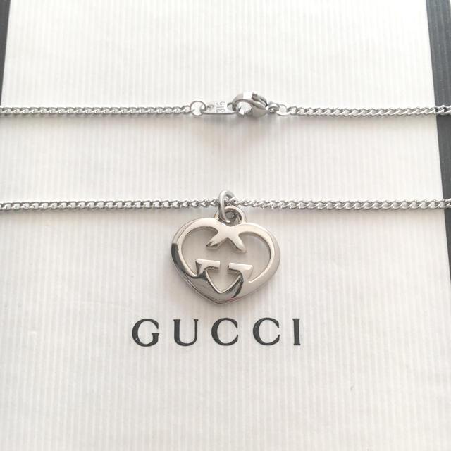 Gucci(グッチ)のGUCCIハートチャームネックレス レディースのアクセサリー(ネックレス)の商品写真