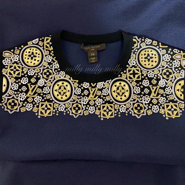 LOUIS VUITTON(ルイヴィトン)の【LOUIS VUITTON】モノグラム刺繍ワンピース レディースのワンピース(ひざ丈ワンピース)の商品写真