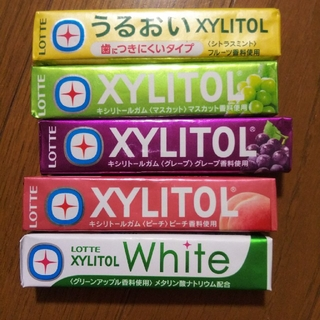 LOTTE XYLITOLガム×5種☆(菓子/デザート)