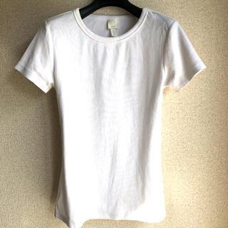 H&M - 【H&M】リブ Tシャツ  ホワイト 白
