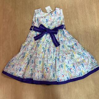 ANNA SUI mini - アナスイミニ☆リボン付きボタニカルワンピース☆120