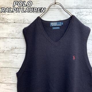 POLO RALPH LAUREN - 【大人気】POLO ポロ ラルフローレン ウール ニット ベスト ネイビー 刺繍