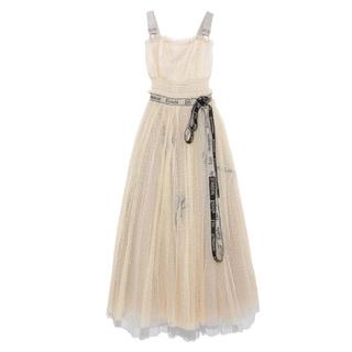 snidel - snidel ♡ロゴ 刺繍 チュール ドレス