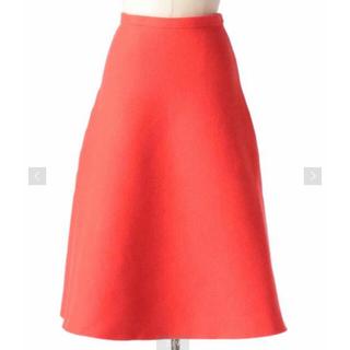 Drawer - ドゥロワー  ダブルフェイスフレアニットスカート