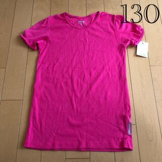 西松屋 - (新品タグ)西松屋130鮮やかなピンク半袖