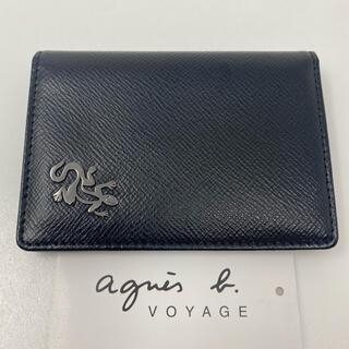 agnes b. - agnes b.  voyage アニエスベー パスケース ブラック レザール