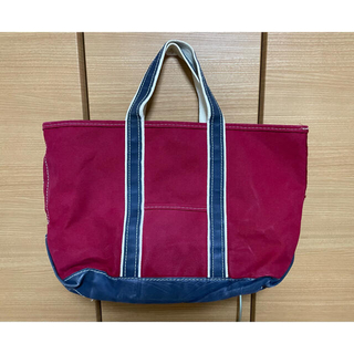 L.L.Bean - 希少  80's L.L.Bean BOAT AND TOTE レッド×ネイビー