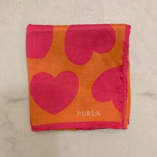 Furla - FURLAフルラ ハンカチ ハンカチーフ ピンク オレンジ【美品】