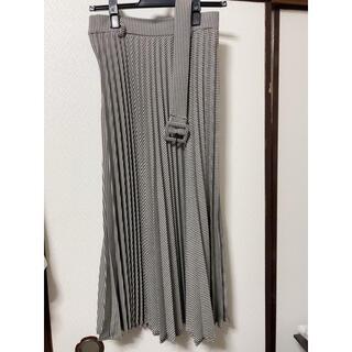 ザラ(ZARA)の新品 ZARA 千鳥柄スカート (ロングスカート)