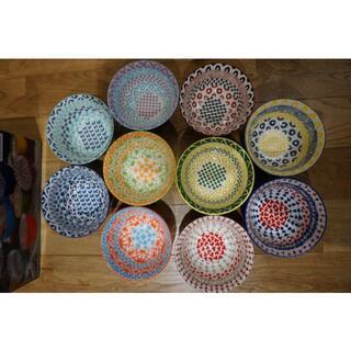 Francfranc - カラフルボウル 陶器のお茶椀 スープ椀 10個セット ライスボール