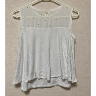 ラグナムーン(LagunaMoon)のラグナムーン lagunamoon 袖なし カットソー(カットソー(半袖/袖なし))