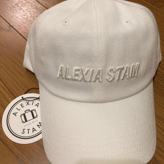 ALEXIA STAM - レア✨ALEXIA STAM 新品未使用 アリシアスタン キャップホワイト