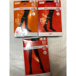 イオン(AEON)の#38 新品未使用 【トップバリュー】タイツS〜M 40・80デニール 6足(タイツ/ストッキング)