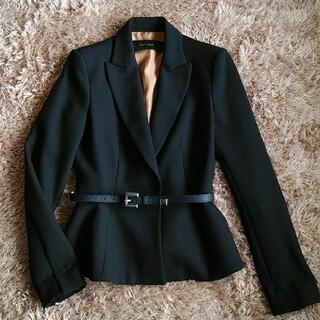ZARA - ZARA 黒 ベルト付き 長袖ジャケット