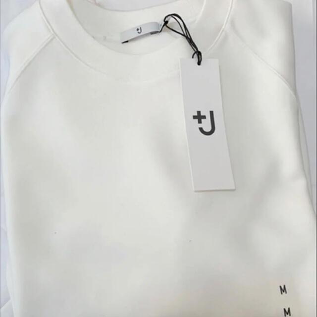 UNIQLO(ユニクロ)の+j ドライスウェットシャツ オフホワイト Mサイズ GU ユニクロU メンズのトップス(スウェット)の商品写真