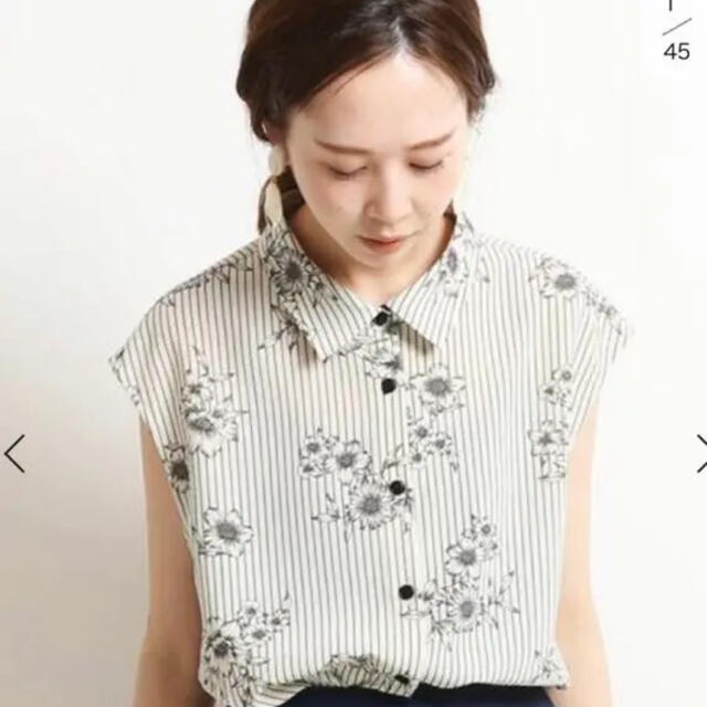 IENA(イエナ)のイエナ  花柄ブラウス レディースのトップス(シャツ/ブラウス(半袖/袖なし))の商品写真
