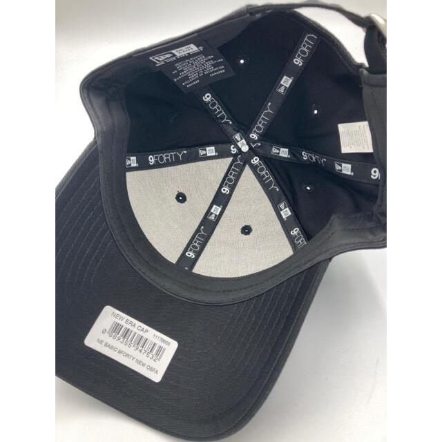 NEW ERA(ニューエラー)のニューエラ キャップ 黒 ベーシック ブラック アジャスタブル 無地 メンズの帽子(キャップ)の商品写真