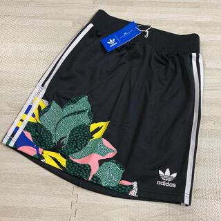 adidas - 新品 アディダスオリジナルス レディース 柄ミニスカート Sサイズ ブラック 黒