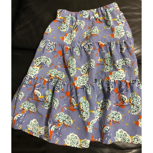 MARKEY'S(マーキーズ)の【orisu様】OCEAN&GROUND  ティアードスカート 110 キッズ/ベビー/マタニティのキッズ服女の子用(90cm~)(スカート)の商品写真