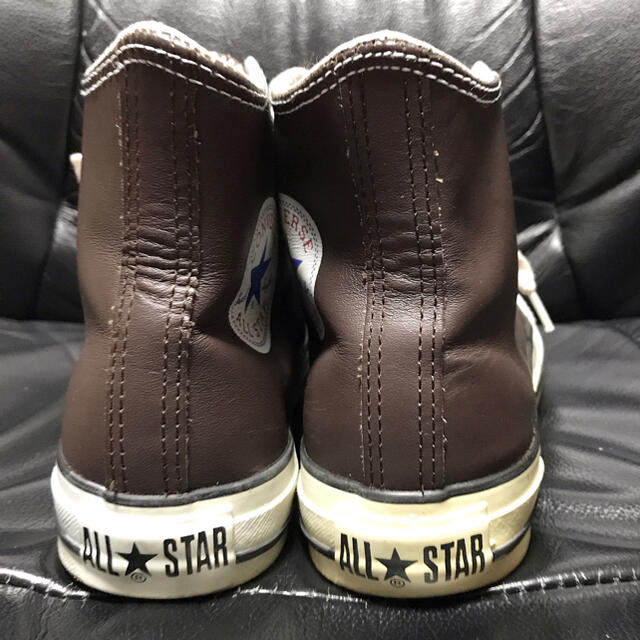 CONVERSE(コンバース)のconverse送料込コンバース革レザースニーカー24.5ハイカット格安アメカジ メンズの靴/シューズ(スニーカー)の商品写真