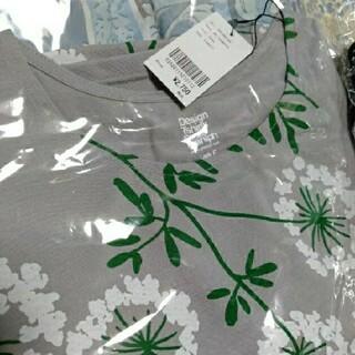 グラニフ(Graniph)のミーフィー様専用 グラニフ 花柄 グレー(Tシャツ(半袖/袖なし))