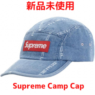 Supreme - 【最安値】Supreme Logo Stripe Denim Camp Cap