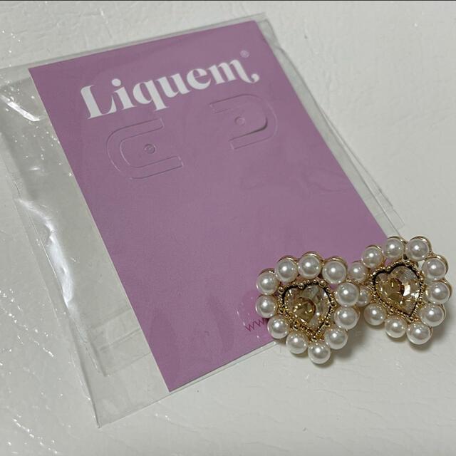liquem ポートレート ハートピアス (クリスタルゴールデンシャドウ) レディースのアクセサリー(ピアス)の商品写真