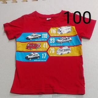 ユニクロ(UNIQLO)のユニクロ UT 半袖 トミカ プラレール 100 赤 はたらく車(Tシャツ/カットソー)
