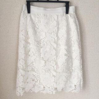 ココディール(COCO DEAL)の美品 ココディール レーススカート(ひざ丈スカート)