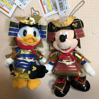 ディズニー(Disney)のディズニー 五月人形 兜 ぬいぐるみバッジ ミッキー ドナルド(キャラクターグッズ)
