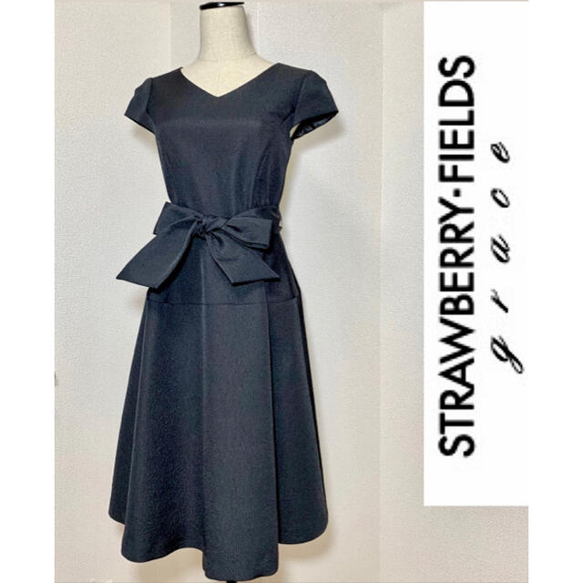 STRAWBERRY-FIELDS(ストロベリーフィールズ)のストロベリーフィールズ グレース・ドレスワンピース レディースのワンピース(ひざ丈ワンピース)の商品写真