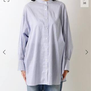 IENA - コットンシルク2WAYシャツ◆ブルー 新品タグ付き