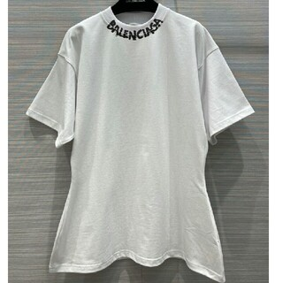 Balenciaga - BALENCIAGA スクリブル ロゴ コットン Tシャツ 人気