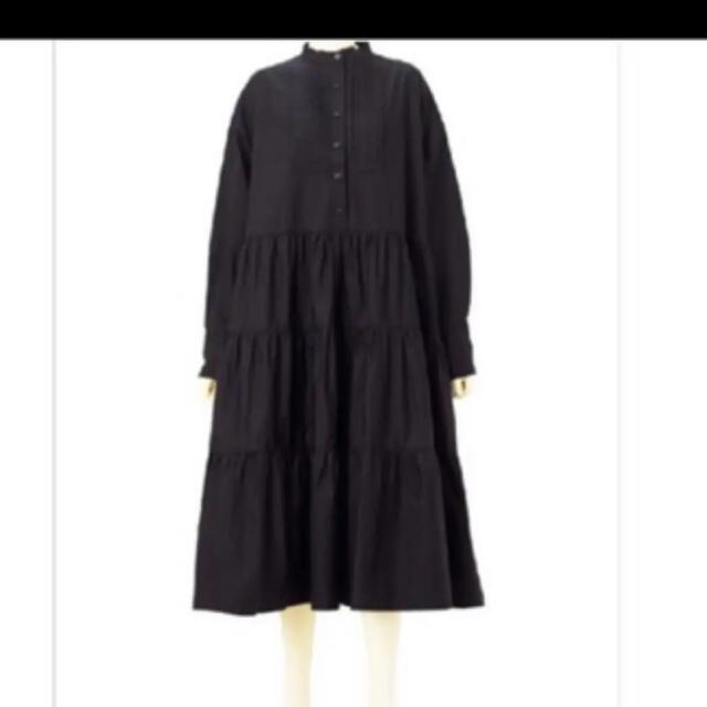 マチャット タキシードシャツドレス ブラック レディースのワンピース(ロングワンピース/マキシワンピース)の商品写真