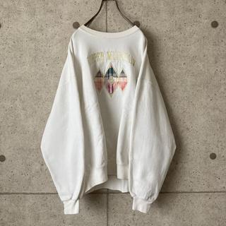 【入手困難‼︎】スウェット 古着 ヴィンテージ レトロ 刺繍デザイン 一点物(トレーナー/スウェット)