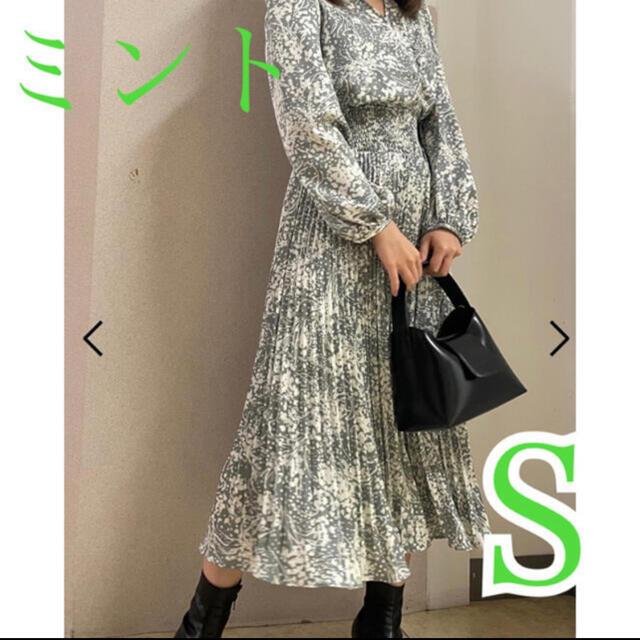 snidel(スナイデル)の新品未使用♡ スナイデル サテンジャガードワンピース レディースのワンピース(ロングワンピース/マキシワンピース)の商品写真