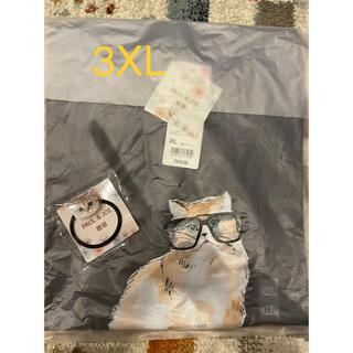ポールアンドジョー(PAUL & JOE)のUNIQLO ポール&ジョー 猫Tシャツ 3XL ヘアゴム付き(Tシャツ(半袖/袖なし))