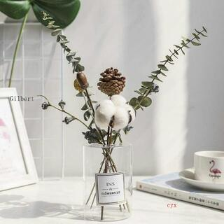 ドライフラワー プリザーブドフラワー 置物 ブーケ 枯れない花 永遠の花 北欧(ドライフラワー)