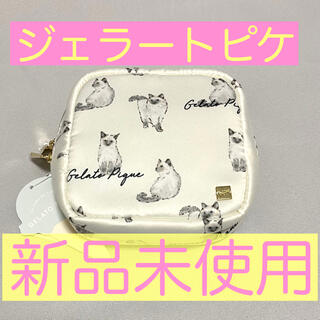 gelato pique - 【新品】ジェラートピケ ポーチ サテン キャット 猫