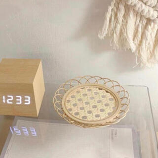 Francfranc - お値下げ♡新品未使用 韓国雑貨 ウッド編みコースター 2枚セット