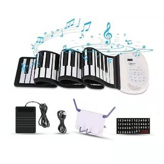 ロールピアノ 88鍵盤 電子ピアノ 折り畳み 128種類音色(電子ピアノ)
