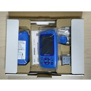 富士通 - 新品 SIMロック解除済 ドコモ キッズケータイF-03J ブルー