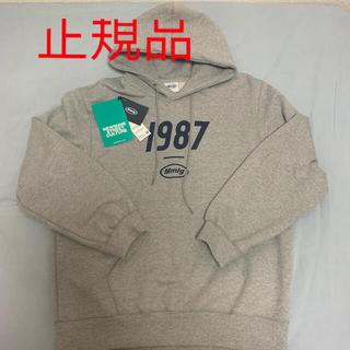 ボウダンショウネンダン(防弾少年団(BTS))の韓国 パーカー 1987 mmlg パーカー グレー sサイズ(パーカー)
