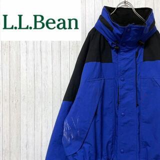 エルエルビーン(L.L.Bean)のエルエルビーン マウンテンパーカー 中綿 ナイロンジャケット ブルー ジップ L(マウンテンパーカー)